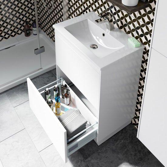 Mode Austin White Floorstanding Vanity Unit And Basin 600mm Vanity Units Bathroom Vanity Units Vanity