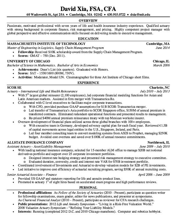 example statistician resume httpresumesdesigncomexample statistician resume free resume sample pinterest resume and free resume samples