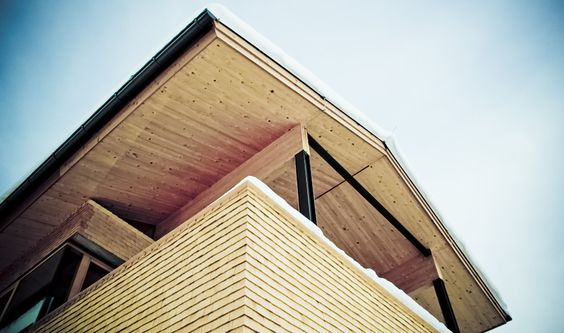 Dach hebt ab #architecture #wood #roof Architekt: Holzbox Tirol; Foto: Umfeld Concept GmbH