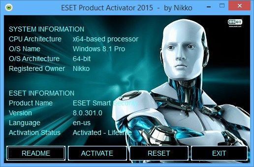 eset smart security 8 activation key 2020