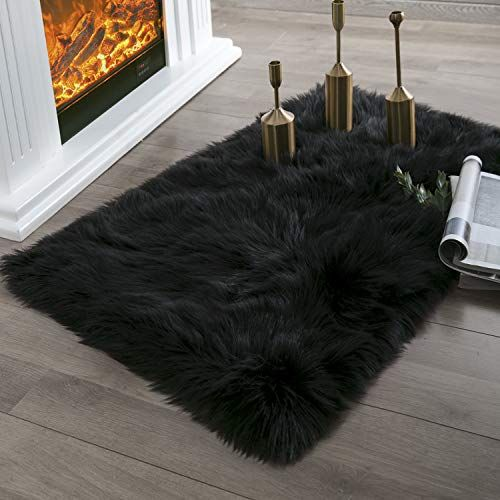 Ashle Home Deco Ultra Soft Fluffy Rugs Faux Fur  Fuzzy Area Rug