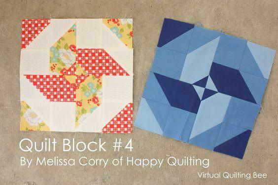 Diary of a Quilter - um blog colcha: Block # 4 tutorial para o acolchoado da abelha Virtual