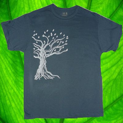Men's Twisted TREE Tee S M L XL 6 COLORS by UrbanLeafClothing, $16.00