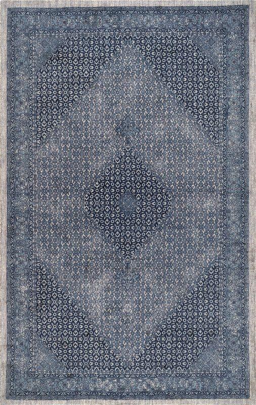 Boddie Oriental Handmade Wool Blue Area Rug In 2020 Dark Blue Rug Blue Area Rugs Navy Area Rug
