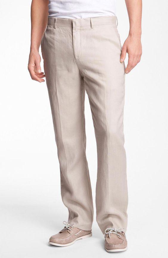 beige linen mens pants | Michael Kors Classic Linen Pants in Beige for Men (sand) | Lyst
