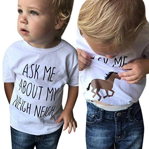 Kids Children Baby Girl Boys Summer Short Sleeve Soft Tops Cute T-shirt Clothes