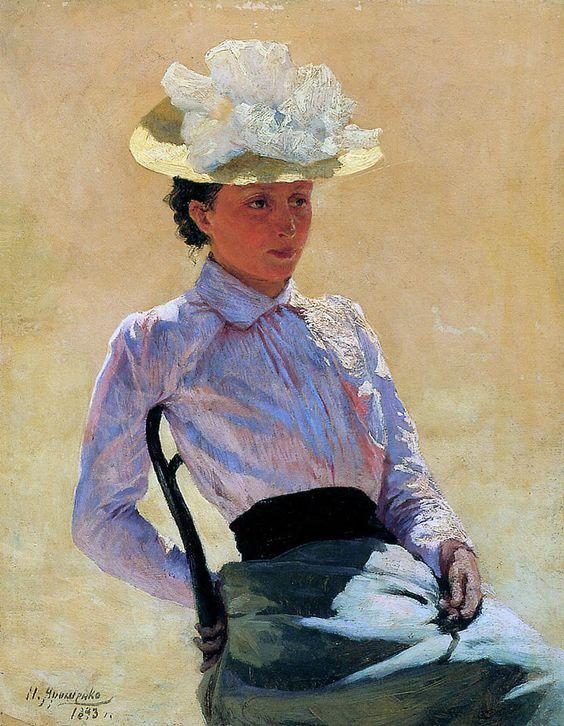 Nikolai Alexandrovich Yaroshenko (1846 - 1898) - Portrait of an Unknown Woman, 1893