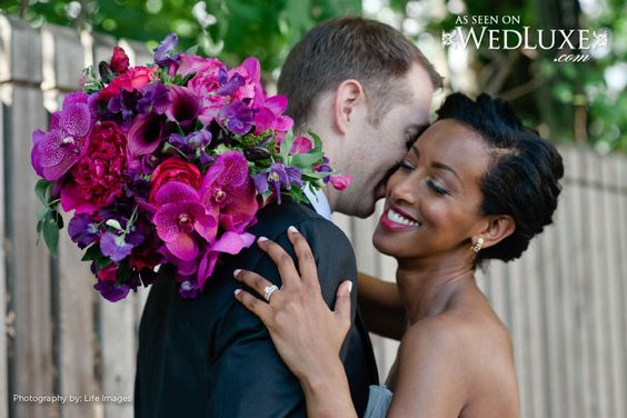 WedLuxe Magazine || #bwwm #wmbw: Interracial Weddings Beautiful, Wedding Bouquets, Swirl Blackwomenwhitemenmeet, Bw Wm Weddings, Bwwm Weddings, Pantone Colour, Colour Inspiration, Swirl Weddings, Magazine Bwwm
