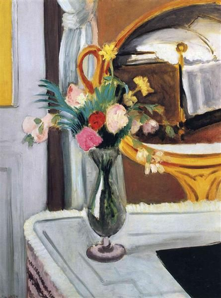The Bed in the Mirror - Matisse Henri