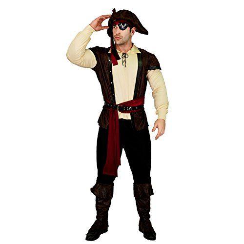 Black Pirate Perruque Perles Jack Sparrow Caraïbes Adultes Homme accessoire robe fantaisie