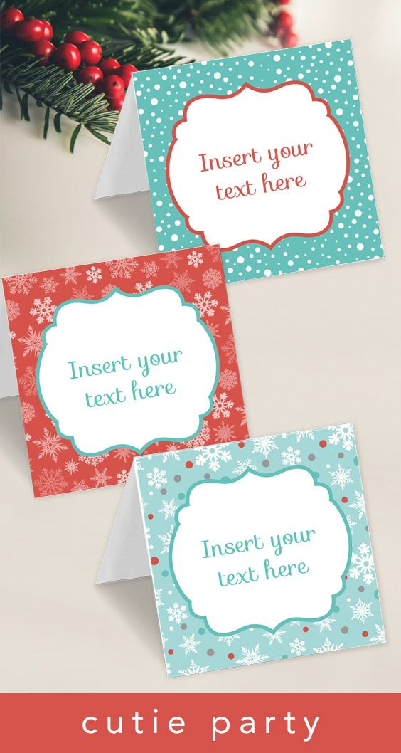 Click To Purchase A Template For Christmas Tent Card With Editable Text Perfect For Buffet Cards Free Christmas Printables Templates Printable Free Tent Cards