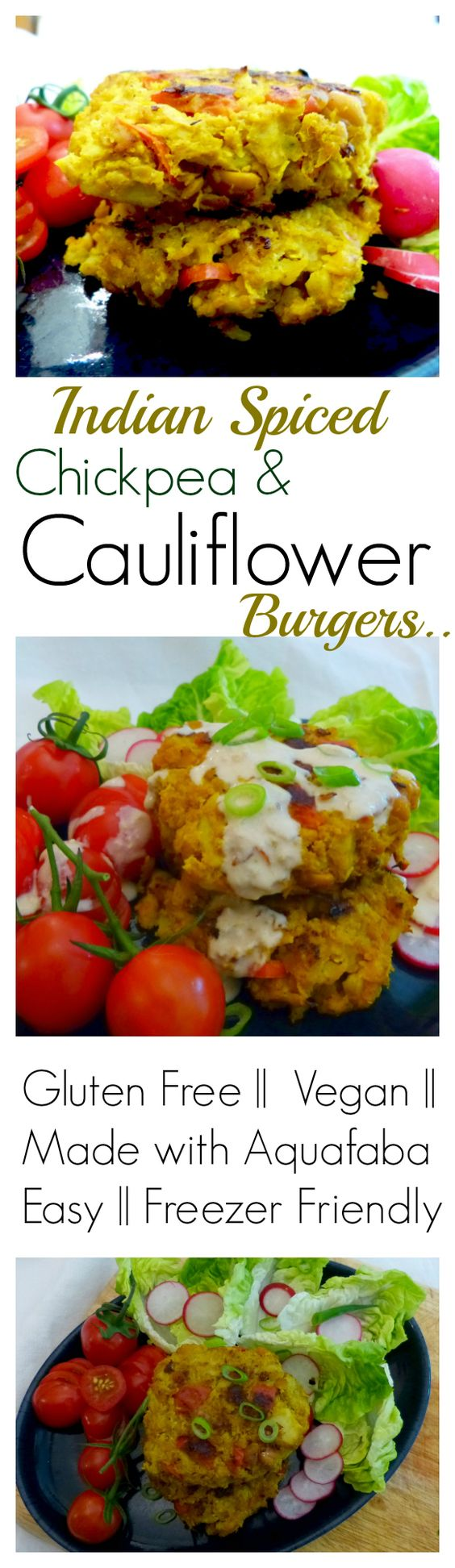 Chickpea and cauliflower patties - good way to use my chickpea flour! Must give a try!