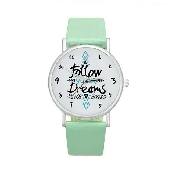 Follow Your Dreams Watch (New) New without tags! Mint green color New working battery! Accessories Watches