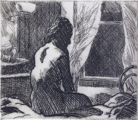 Edward Hopper - The Open Window (1918)