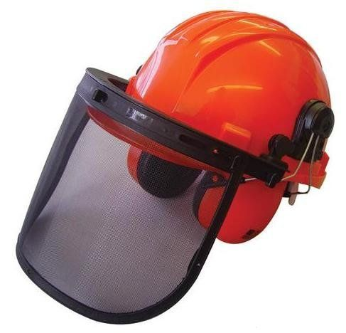 This Head Protection Set By Handy Affords Good Protection For The Head From Falling Debris Eye Protection With The Mesh Vi Helmet Safety Helmet Ear Protection