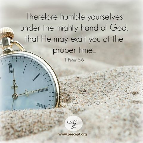 1 Pedro 5:6 Humillaos, pues, bajo la poderosa mano de Dios, para que él os exalte cuando fuere tiempo♔