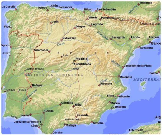 La Spagna Cartina Fisica.Geografia Della Spagna Geografia Spagna Geografia Economica