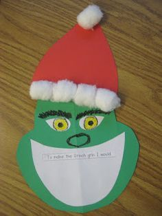 grinch christmas ornament craft | Grinch activity idea, no instructions, but still simple