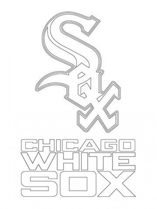 Chicago White Sox Logo Coloring Page Kidswoodcrafts Baseball Coloring Pages White Sox Logo Chicago White Sox
