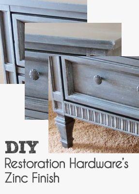 Diy Restoration Hardware 39 S Zinc Finish Pinterest Other Hardware And The O 39 Jays