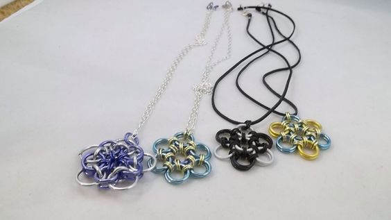 Spring flowers!  Handmade flower pendants. Pam B Designs Pambdesigns.com