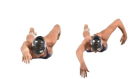 Revisa tu técnica de natación fuera del agua