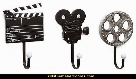 movie-themed Decorative Movie Design Metal Wall Mounted Storage Hooks