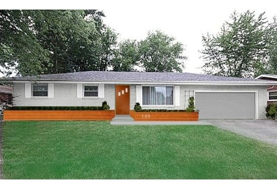 Exterior Update Help - 1960's Yellow Brick Ranch | Homes ...