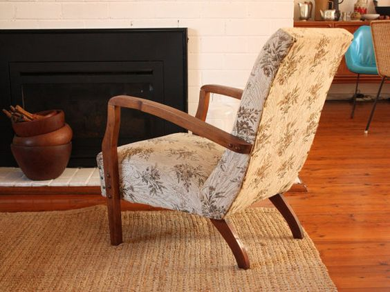 Vintage Low Arm Chair by TriBecasVintage on Etsy, $65.00