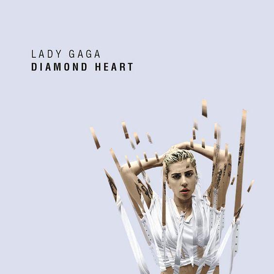 Lady Gaga – Diamond Heart (single cover art)