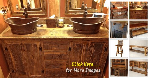 Rustic Bathroom Vanities For Vessel Sinks Rustic Double Sink Bathroom Vanity