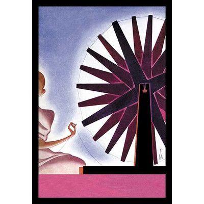 Buyenlarge 'India's Symbolic Wheel' by Frank McIntosh Graphic Art