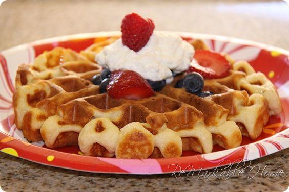 Buttermilk Waffles & buttermilk syrup