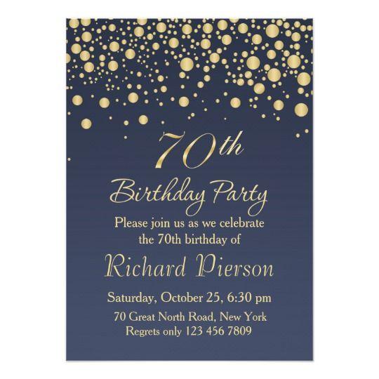 70th Birthday Invitation Designs 70th Birthday Invitations 75th