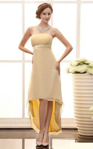 Apfelförmiges trägerlos exklusive Partykleid ohne Ärmeln aus Chiffon