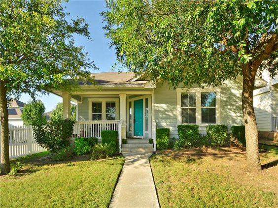 You don't see many colorful front doors these days and this color is awesome!  http://www.realtyaustin.com/idx/homes/texas/kyle/78640/711-scrutchins/9484358.html