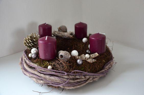 Adventskranz - Adventskranz *M - Violetta* - ein Designerstück von Dimension-2-3 bei DaWanda