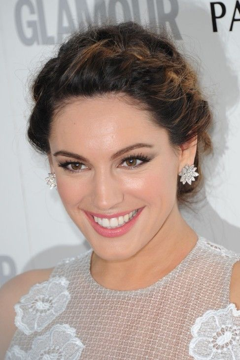 braided up do | Kelly Brook Braided Updo for Wedding | Hairstyles Weekly