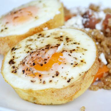 ... bake eggs in the oven: works great for our frozen breakfast sandwich