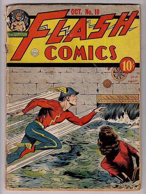Flash Comics #10, Oct. 1940.