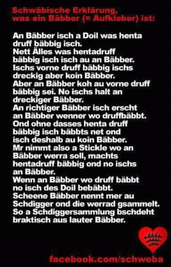 bäbber Schwäbisch