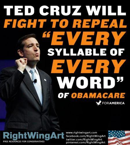Image result for ted cruz obama care