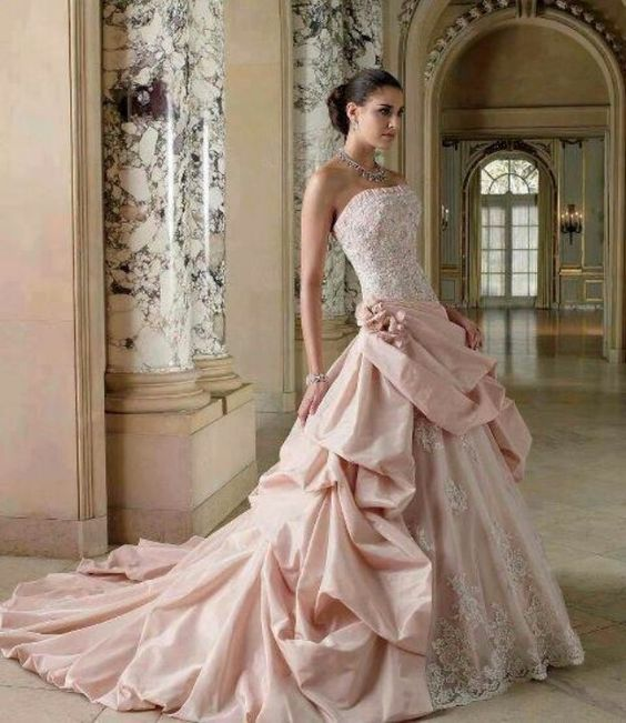 Pale pink, Pink roses and Ball gown on Pinterest