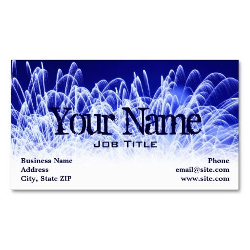 Blazing Fireworks Profile Card Business Card Template Business Card Template Photography Business Cards Template Business Cards