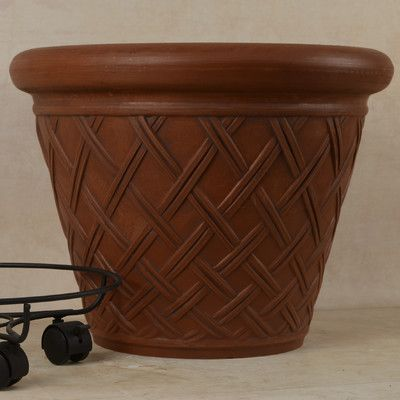 Arcadia Garden Products Round Pot Planter Color:
