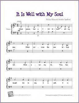 It Is Well With My Soul Free Sheet Music For Easy Piano