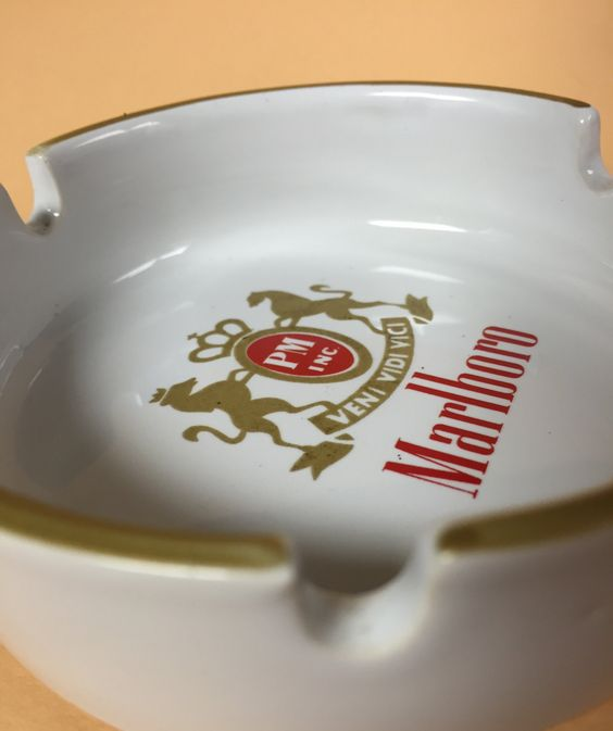 Rare Vintage Marlboro Cigarette or Cigar Ashtray by PM, Inc. Featuring the Saying: Veni Vidi Vici (I Came I Saw I Conquered) by SandysTrinkets on Etsy