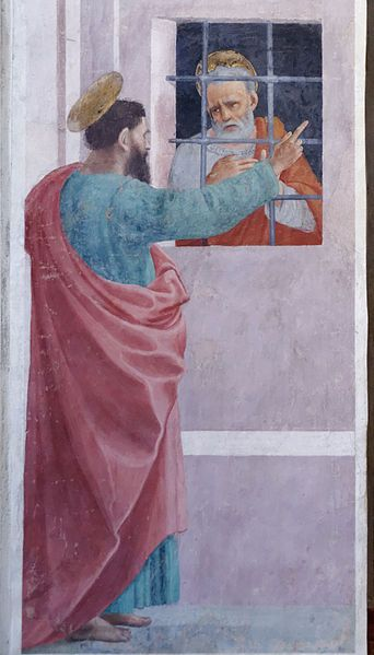 """St. Paul Visits St. Peter in Prison"" by Filippo Lippi"