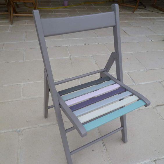 L 39 id e est de peindre chaque barreau de la chaise afin d for Barreau de chaise cigare