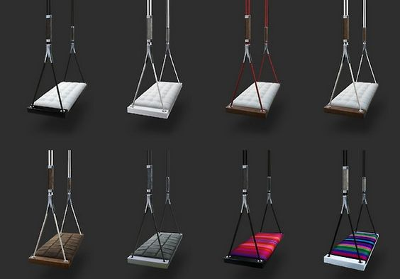 Cute variety of adult swings for inside our cabin:)-Nettie